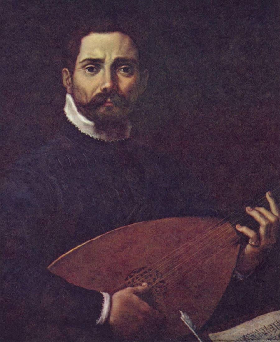Portrait de Giovanni Gabrieli avec un luth © wikipedia