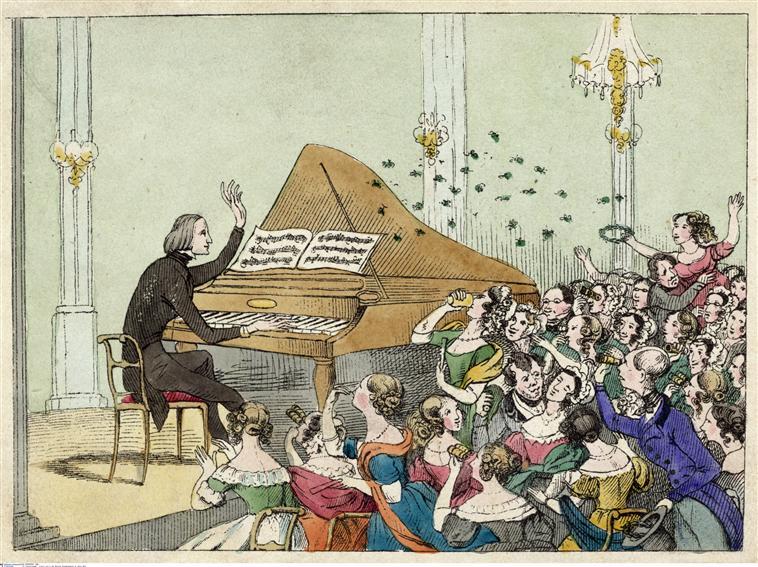 Dans la salle de concert Franz Liszt à la Singakademie de Berlin en 1842 © BnF