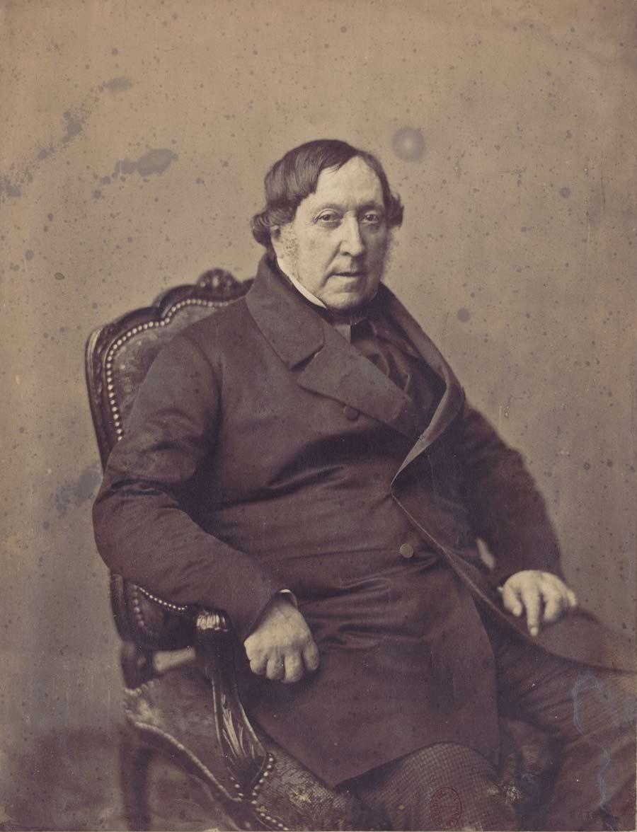 Portrait de Gioachino Rossini par Gustave Le Gray © Bnf