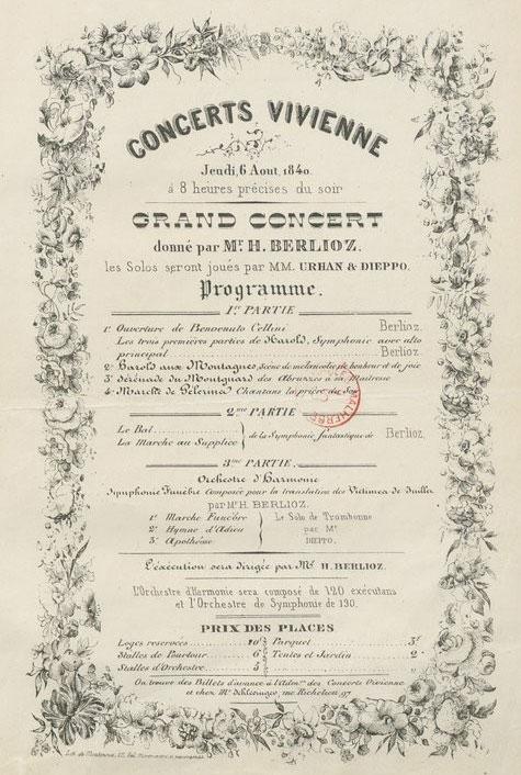 Episode de la vie d'un artiste, Symphonie Fantastique, partition par Hector Berlioz © BnF