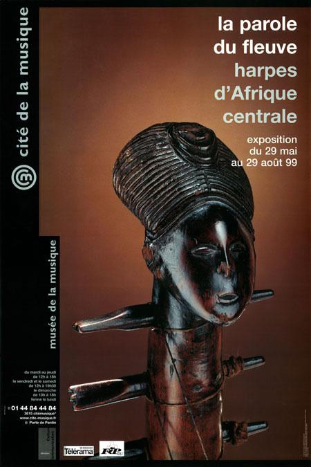 Affiche exposition La parole du fleuve Harpes d'Afrique Centrale © Cité de la musique