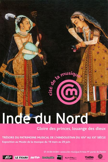 Affiche de l'exposition inde du Nord, gloire des princes, louanges des dieux © Philharmonie de Paris - Cité de la musique