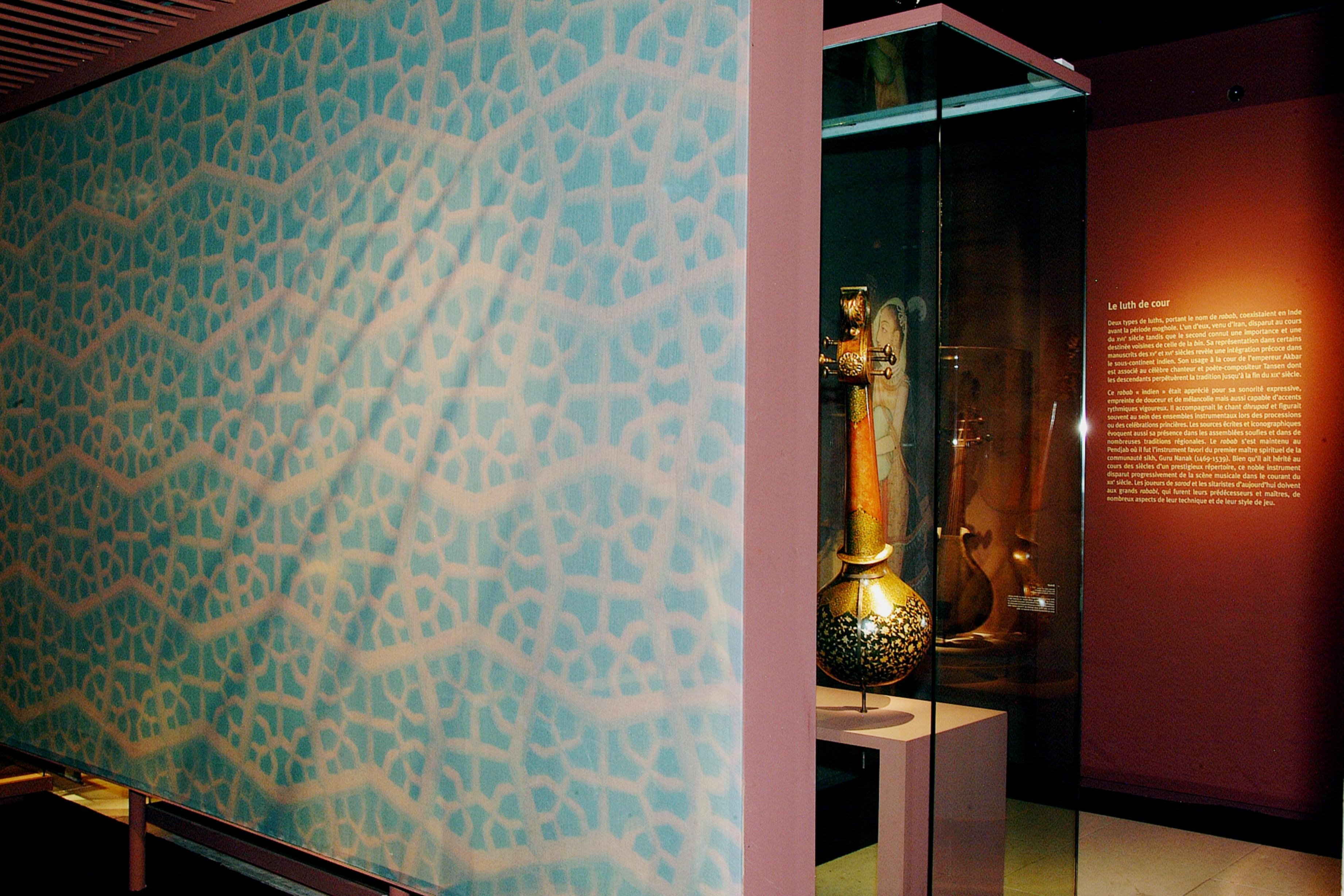 Vue de l'exposition inde du Nord, gloire des princes, louanges des dieux © Philharmonie de Paris - Cité de la musique