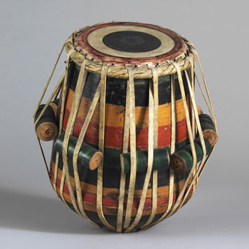 Instrument de musique le Tabla, Inde, XIXe siècle