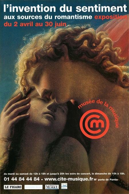 Affiche exposition l'invention du sentiment, aux sources du romantisme © Cité de la musique