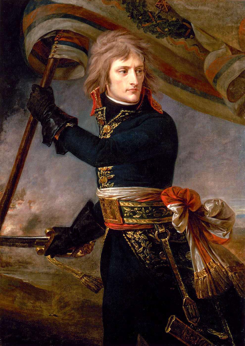 Antoine-Jean Gros Bonaparte au pont d'Arcole, (17 Novembre 1796) © RMN Grand-Palais, G. Blot