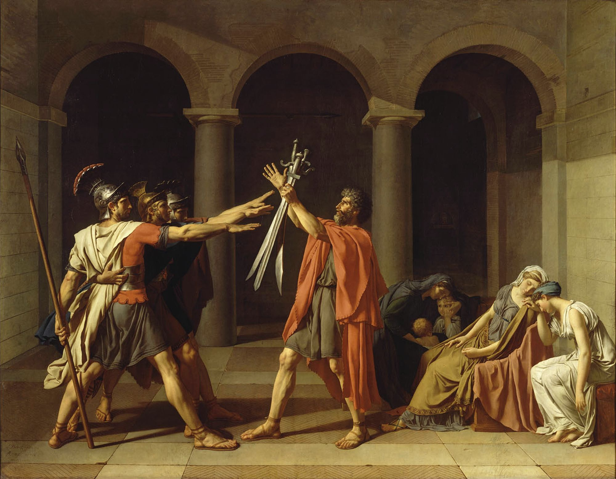 Jacques-Louis David, Le Serment des Horaces © Paris, Musée du Louvre