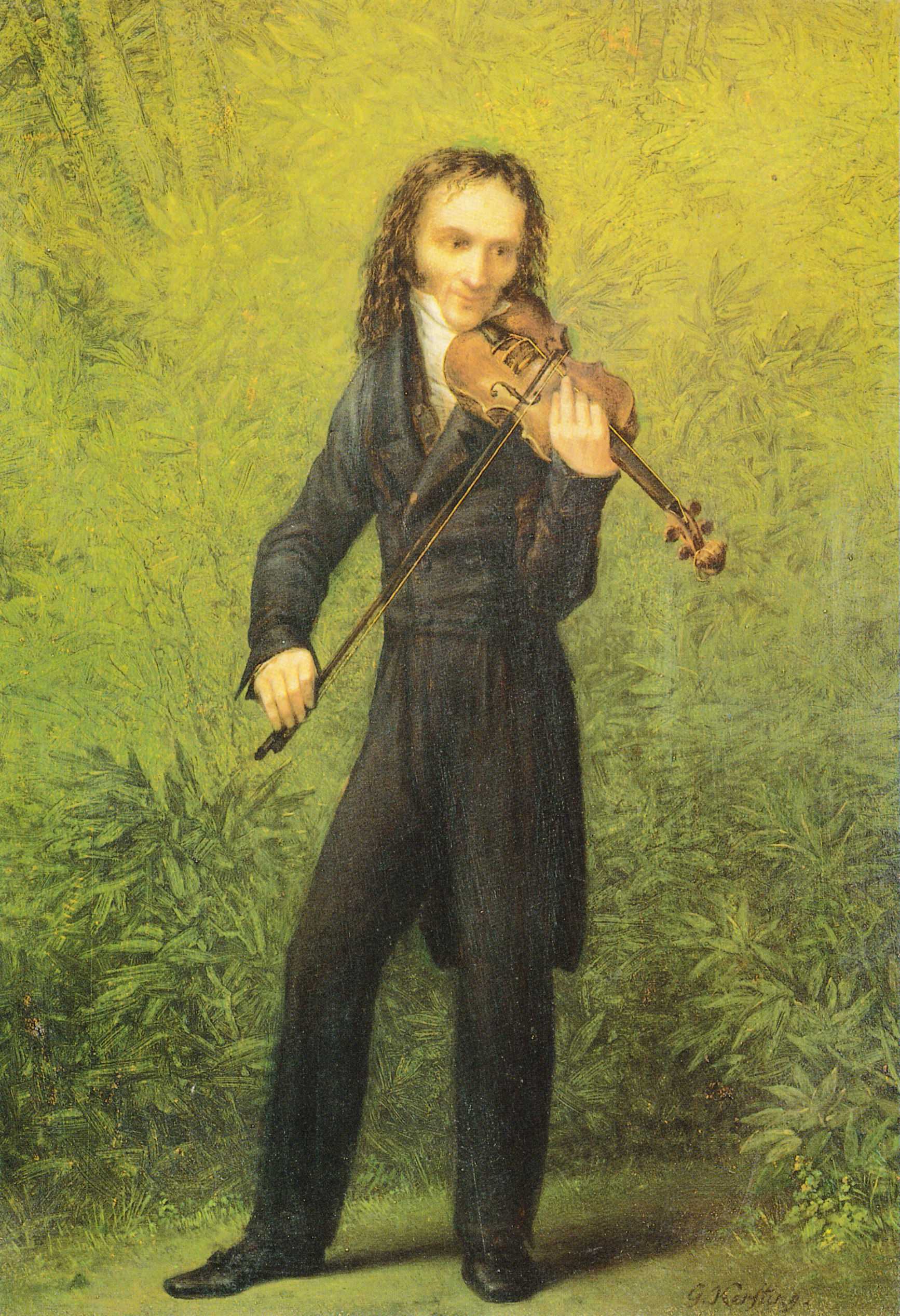 Niccolo Paganini, Georg Friedrich Kersting © Galerie Neue Meister