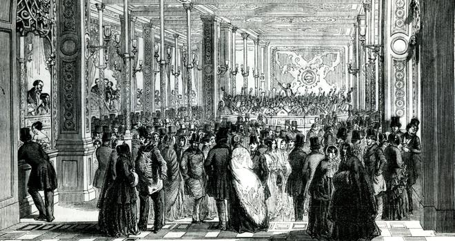 Exposition Violons Vuillaume, Concert dans le bazar Bonne Nouvelle 1847 © Bibliothèque Musée Arts Décoratifs