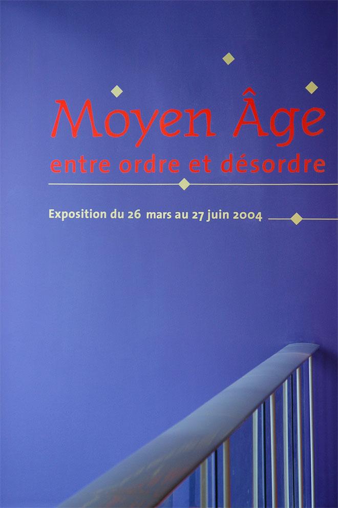 Vue de l'exposition Moyen-Âge, entre ordre et désordre - introduction © Cité de la musique
