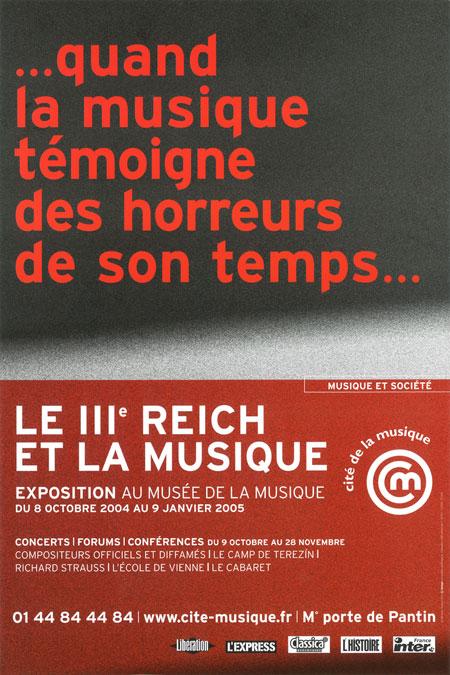 Exposition Le IIIe Reich et la musique à la Philharmonie de Paris |