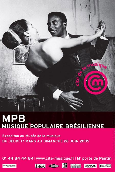 Affiche exposition Musique Populaire Brésilienne 2005 MPB © Cité de la musique