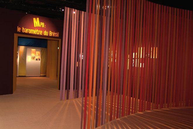 Vue de l'exposition Musique Populaire Brésilienne - introduction  © Cité de la musique