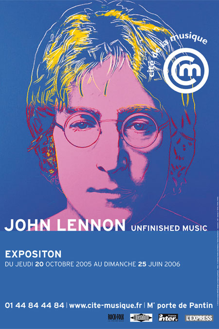 Affiche de l'exposition John Lennon Unfinished Music © Philharmonie de Paris - Cité de la musique