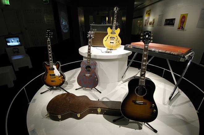 Vue de l'exposition John Lennon - Unfinished Music © Agathe Cazard - Cité de la musique