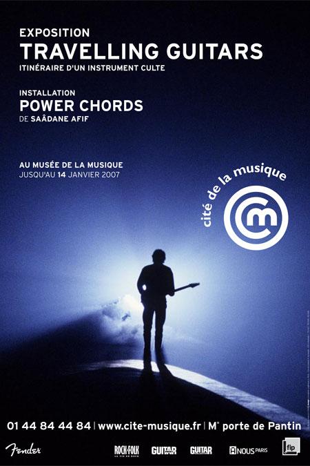 Affiche exposition Travelling Guitars © Cité de la musique