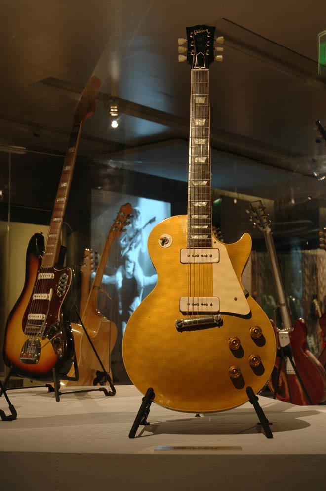 Guitare de David Gilmour, Modèle Les Paul Goldtop Gibson, Kalamazoo, États-Unis, 1959, Prêt de David Gilmour