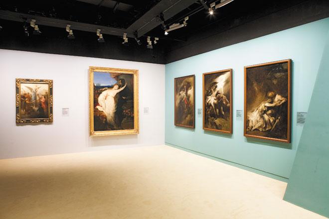 Vue de l'exposition Richard Wagner, visions d'artistes  © Cité de la musique