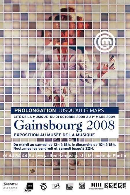 Affiche de l'exposition Gainsbourg 2008, Philharmonie de Paris - Cité de la musique