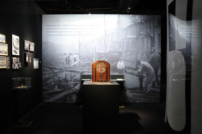 Vue de l'exposition We Want Miles © Léonie Young - Cité de la musique