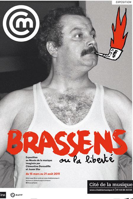 Affiche exposition Georges Brassens ou la liberté © Cité de la musique