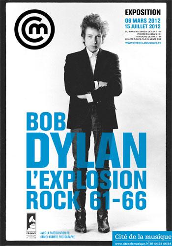 Affiche exposition Bob Dylan 2012 © Cité de la musique