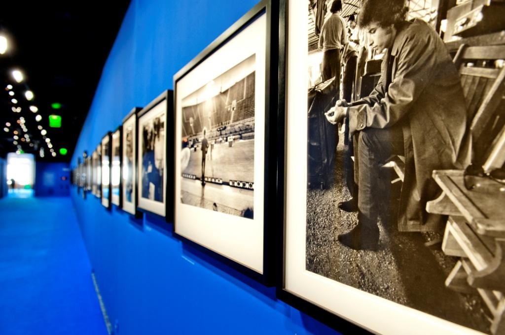 Vue de l'exposition Bob Dylan, Cité de la musique - 1966 © William Beaucardet