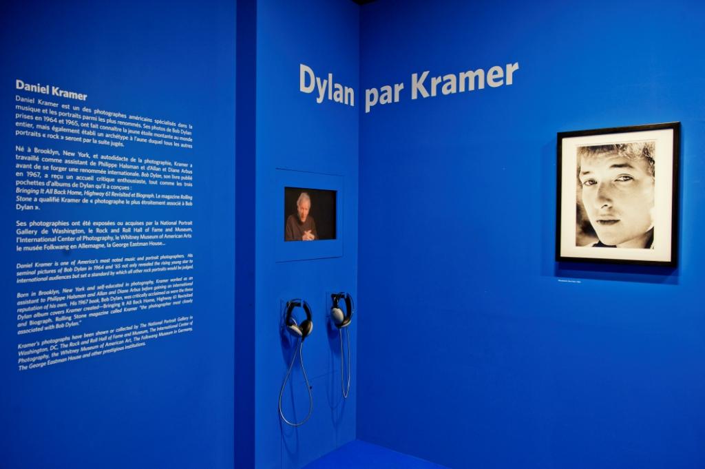 Vue de l'exposition Bob Dylan, Cité de la musique - Daniel Kramer Galerie Photos © William Beaucardet