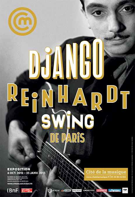Affiche de l'exposition Django Reinhardt, swing de Paris, Philharmonie de Paris - Cité de la musique