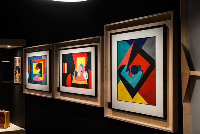 Vue de l'exposition Django Reinhardt - Be-Bop au Club Saint-Germain © Matthias Abhervé
