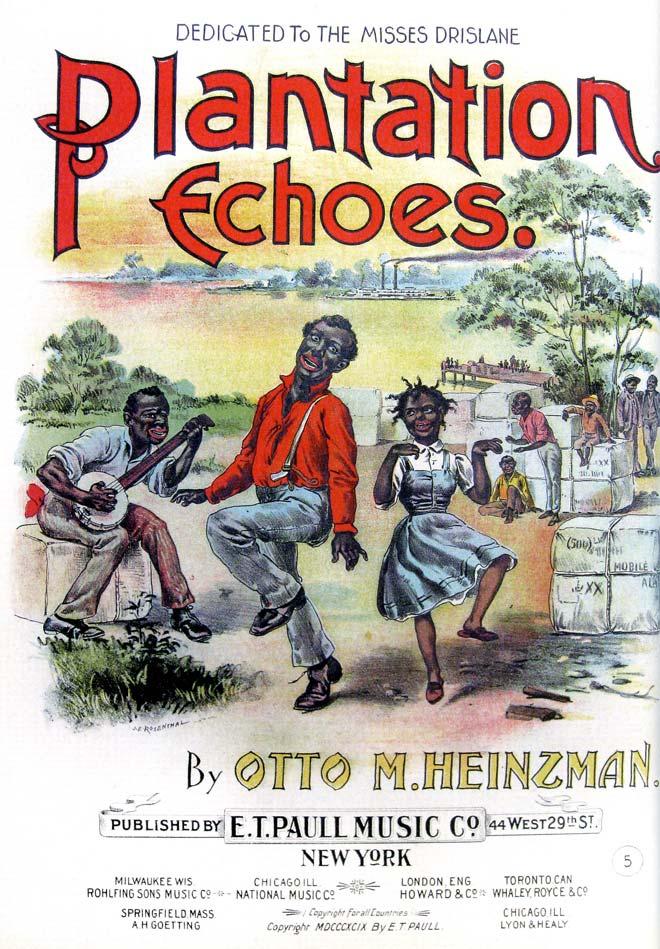 Otto M. Heinzman, partition de Plantation Echoes, fin XIXe siècle © Collection Francis Hofstein