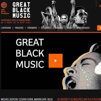 Mini-site dédié à l'exposition Great Black Music Cité de la musique