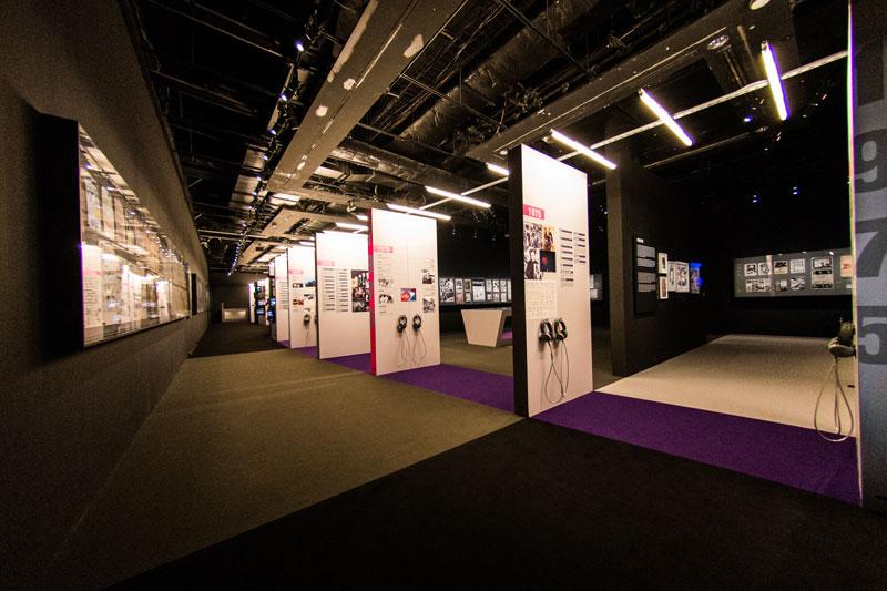 Vue de l'exposition Europunk - introduction  © Matthias Abhervé