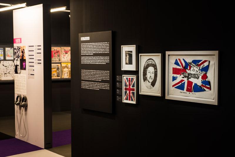 Vue de l'exposition Europunk - Sex Pistols © Matthias Abhervé
