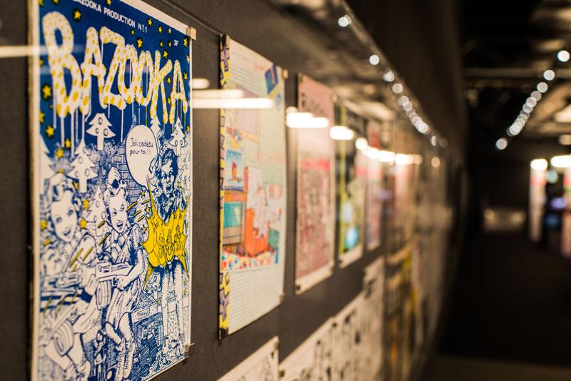 Vue de l'exposition Europunk - Bazooka © Matthias Abhervé