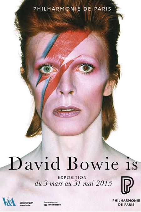 Affiche expositionDavid Bowie Is 2015 © Cité de la musique