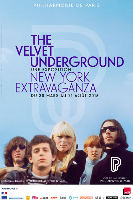 Affiche exposition The Velvet Underground, New-York Extravaganza 2016 © Cité de la musique - Philharmonie de Paris