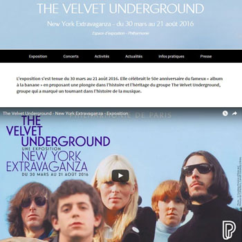 Mini-site The Velvet Undergound © Philharmonie de Paris