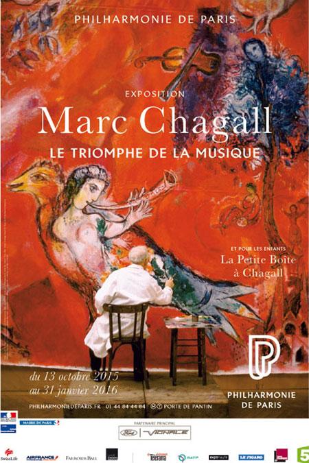 Affiche exposition Marc Chagall le triomphe de la musique © Cité de la musique - Philharmonie de Paris