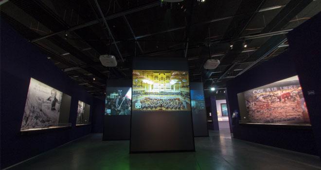 Vue de l'exposition Ludwig van le mythe Beethoven - Destinées politiques © Matthias Abhervé
