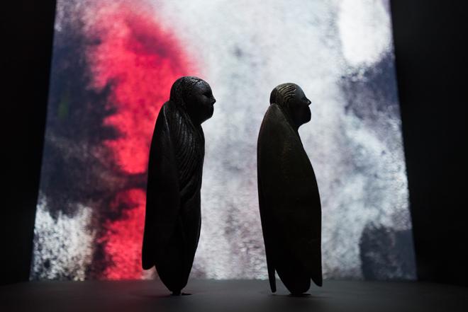 Vue de l'exposition Al Musiqa : voix et musiques du monde arabe  © Matthias Abhervé et Rafael Gubitsch - Philharmonie de Paris