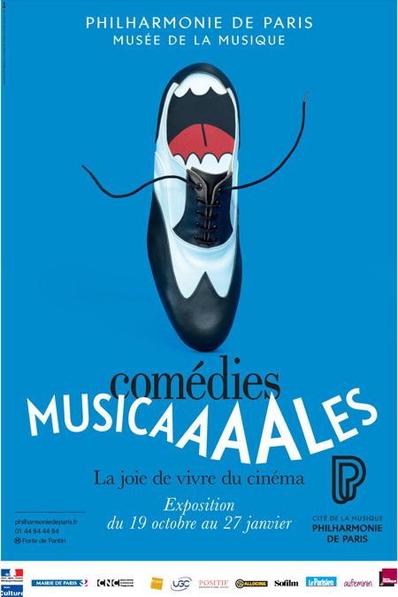 Affiche de l'exposition Comédies musicales, la joie de vivre au cinéma - © Philharmonie de Paris - Cité de la musique