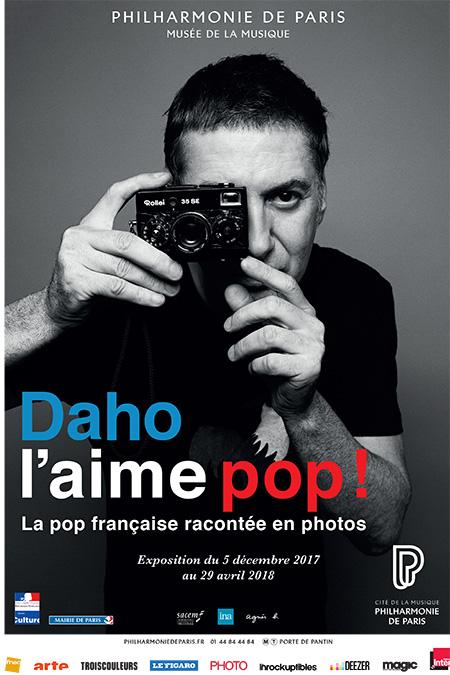 Affiche de l'exposition Daho l'aime pop ! - © Philharmonie de Paris - Cité de la musique