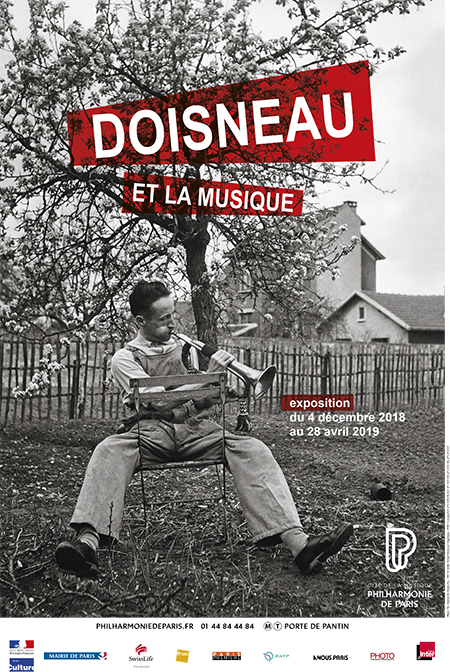 Affiche de l'exposition Doisneau et la musique- © Philharmonie de Paris - Cité de la musique