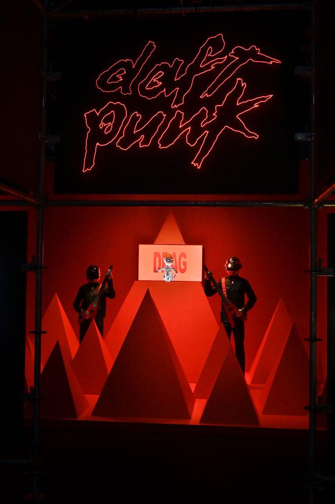 Vue de l'exposition Electro -  Technologie clip Daft Punk © Gil Lefauconnier