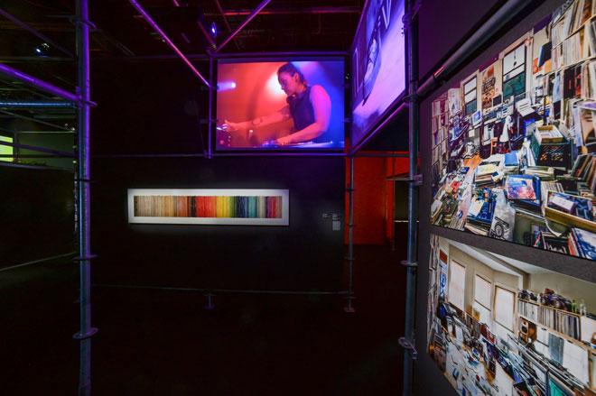 Vue de l'exposition Electro - Mix & Remix  © Gil Lefauconnier
