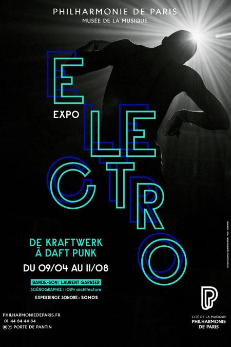 Affiche de l'exposition Electro - © Philharmonie de Paris - Cité de la musique