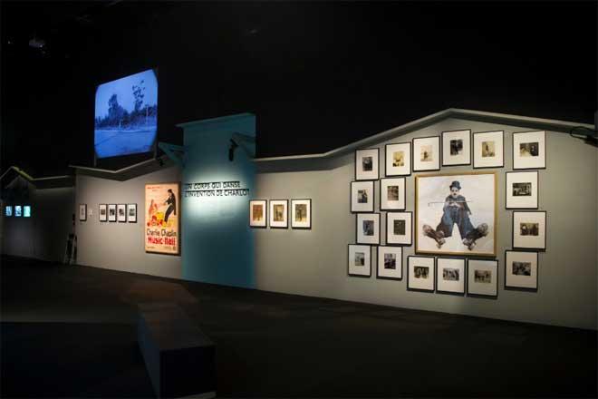 Vue de l'exposition Charlie Chaplin - Un corps qui danse. Photo : Nora Houguenade - Cité de la musique - Philharmonie de Paris.