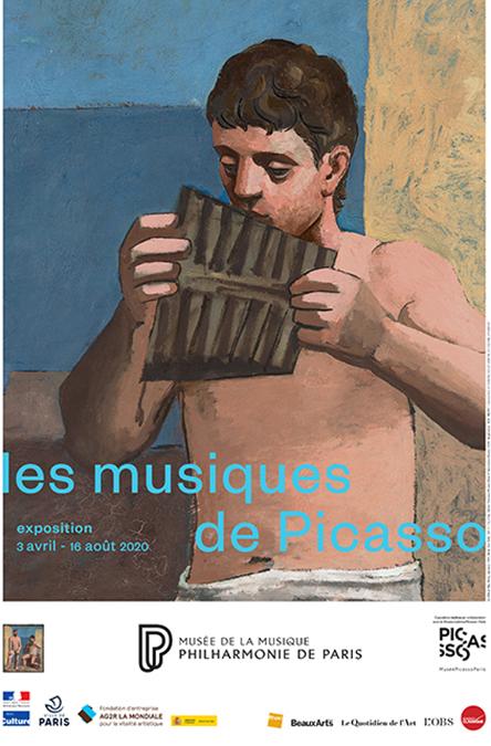 Affiche de l'exposition Les musiques de Picasso - Philharmonie de Paris - Cité de la musique