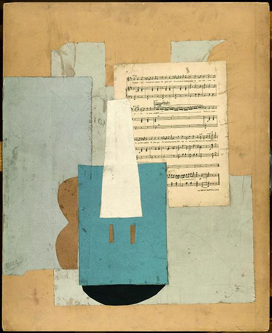 Violon et feuille de musique 1912, Pablo Picasso, Musée national Picasso, Paris - Photo©RMN/Succession Picasso 2020.